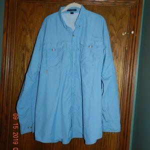 Men's Port Authority Blue Button Down Shirt